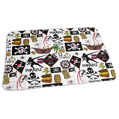LADY PIRATE Baby Portable Reusable Changing Pad Mat 19.7x27.5 inch