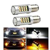FEZZ Auto LED Rücklicht Bremse Licht Blinker Licht Glühlampen BAY15D 1157 2835 42SMD Weiß Gelb