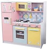 KidKraft 53181 Large Pastel Spielküche pastell aus Holz für Kinder mit Zubehör