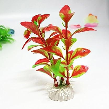 LAAT 10pcs Artificial Aquatic Plant Decoration for Aquarium Plastic Fish Tank Plants Accessories (2) 9