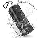 Best Bass Bluetooth Portable Speakers - Bluetooth Speaker Waterproof Portable Speakers Outdoor Dustproof, Unbreakable Review