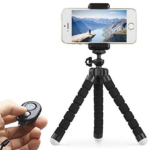 Mini Pied Appareil Photo Trépied pour Smartphone, Trépied Flexible pour iphone, Portable avec Télécommande Bluetooth pour tout Appareil Photo Numérique GoPro Caméra et Appareil Photo Numérique