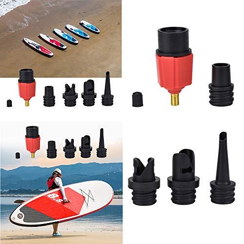 FreeLeben Luftpumpenventiladapter, Aufblasbares Paddle Board Rudern Boot Stand Up Paddle Kayak Surfzubehör Passen Auto/Fahrrad Air Inflator Sofa Zelt
