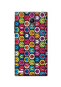 KanvasCases Geometric-Colors Back Cover For Xiaomi Redmi Note
