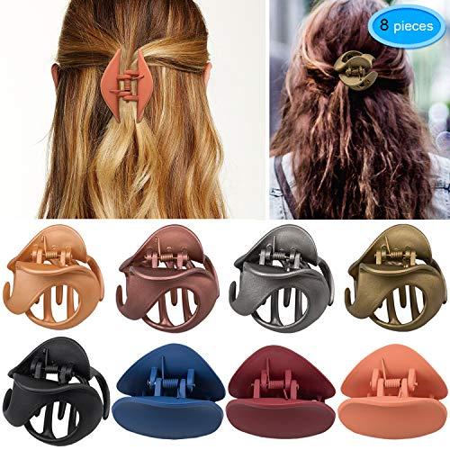 EAONE 8 Stücke Haarspangen Haargreifer Klaue Clips Kunststoff Haarstyling Zubehör mit Freies Box für Damen Mädchen Kinder, 8 Farben - Farbe Helle Küche