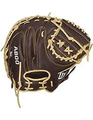 Wilson - Gant de Catcher Baseball Wilson A800 Showtime 34 Gants - Droitier, Taille Gant - Catcher
