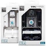 Pack 2 batteries 700 mAh + 2 capots et un double socle de charge + 1 cable USB pour Wii Remote - Assortiment (Pack noir ou Pack blanc)