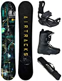 AIRTRACKS SNOWBOARD SET - PLANCHE DATA WIDE 150 - FIXATIONS MASTER - SOFTBOOTS SAVAGE...