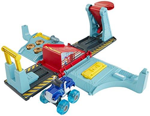 Blaze officina mega salti - kit pista macchinina monster truck giocattolo 3+ anni, fhv41