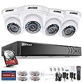 ANNKE Kit Sistema de Seguridad CCTV Cámara de vigilancia Luz de estrella 4CH 3MP H.264+ DVR con 4 Cámaras 1080P IP66 Impermeable Visión nocturna No-Ruido Alerta por correo electrónico con instantáneas-1TB HDD