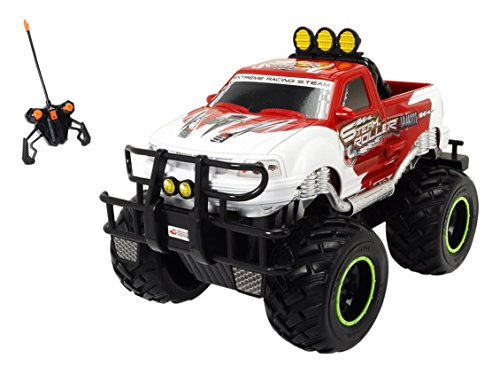 Dickie Toys 201119485 - RC Ford F150 S. Team Roller, funkferngesteuerter Monstertruck inklusive Batterien, 30 cm