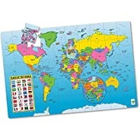 The Learning Journey Puzz Doubles Puzzle & Poster Series Map Of The World Floor Puzzle
