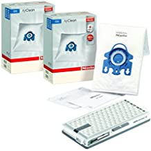 Genuine Miele Maintenance Kit featuring 8 x Miele 3D GN Dustbags and a Miele SF HA 50 Active Hepa Filter with timestrip