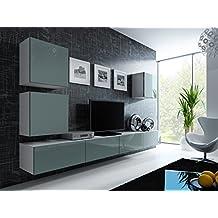 suchergebnis auf f r wohnwand h ngend wei hochglanz. Black Bedroom Furniture Sets. Home Design Ideas