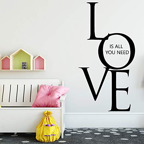 Nette Liebe Zitat Wandaufkleber Wandtattoo Aufkleber Wohnkultur Für Kinderzimmer Wohnzimmer Wandtattoos-in Wandaufkleber Rot M 30 cm X 57 cm
