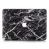 AQYLQ Hülle für 2018 MacBook Air 13 Zoll mit Retina A1932 Hartschale Tasche Schutzhülle Case 13-Zoll MacBook Air Laptop - Schwarzer Marmor