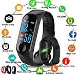 Clothsfab Latest M3 Smart Band with OLED Sweatproof Waterproof Touchscreen Fitness Band Activity Tracker Steps Calories...