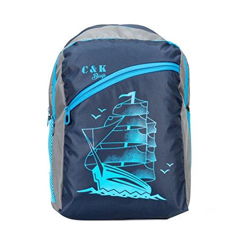 Chris & Kate Blue Spacious School Bag | College Bag | Casual Backpack (27 litres) (CKB_105SS)