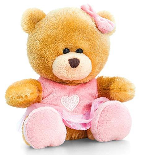 Saino Plüschtier Bär, Pipp The Bear als Ballerina, Kuscheltier Teddy angezogen, Kuschelbär mit rosa Kleidung 14 cm (Teddy Bear Kleinkind Kostüm)