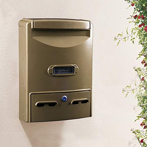 Mei xu letterboxes cassetta postale - alluminio fuso, grande ferro battuto con serratura retro parete esterna per casa può essere collocato nella cassetta postale numero della cassetta postale, adatto