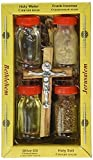 Holy Land Zuluf Set 5 in 1 Olive Wood Cross Set with 3 Bottles - Oil, Jordan Water & Holy Earth HLG005 by Zuluf