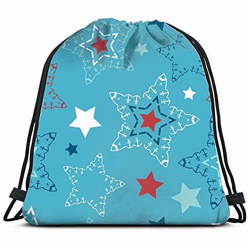 DD Decorative Art Hey Sailor Stars Drawstring Backpack Gym Sack Lightweight Bag Water Resistant Gym Backpack for Women&Men for Sports,Travelling,Hiking,Camping,Shopping Yoga - Hey Sailor