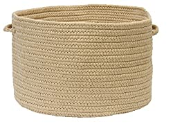 Colonial Mills BR33 18 by 18 by 12-Inch Boca Raton Solid Storage Basket, Cuban Sand