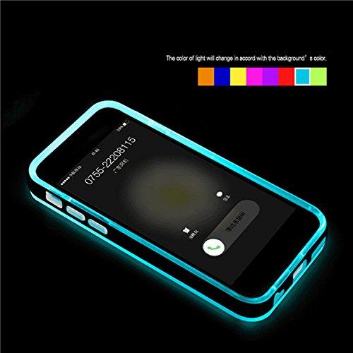 Flash Light LED Up Rappellez Case Cover Blink appels entrants LED pour l'iPhone 6 rouge