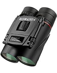 Mini Fernglas,Romanda 10 x 22 Klein Fernglas Ferngläser Binocular,Kompakt Faltbare HD Wasserdicht Feldstecher Teleskope mit Tragetasche für Vogelbeobachtung, Wandern, Jagen, Sightseeing