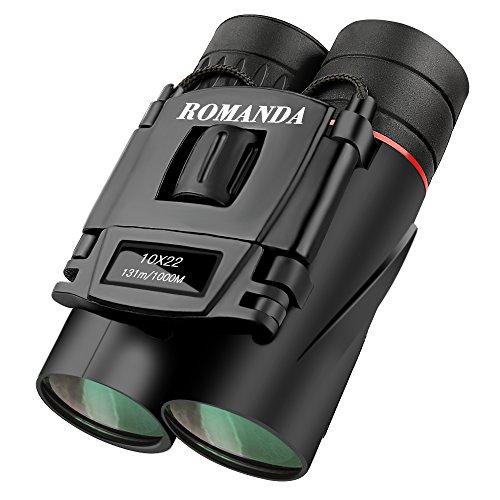 Mini Fernglas,Romanda 10 x 22 Klein Nachtsicht Fernglas Ferngläser Binocular,Kompakt Faltbare HD...