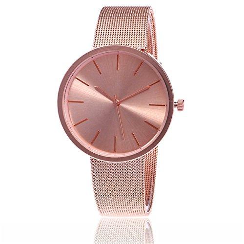 577fb5850ab5 Reloj Longra Reloj clásico del SteWrist del cuarzo de las mujeres de la  manera ...