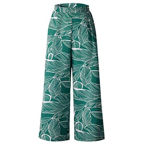 Lazzboy Haremshose Frauen Sommer-Blätter, die Drawstring-weites Bein-Hosen-Gamaschen ()