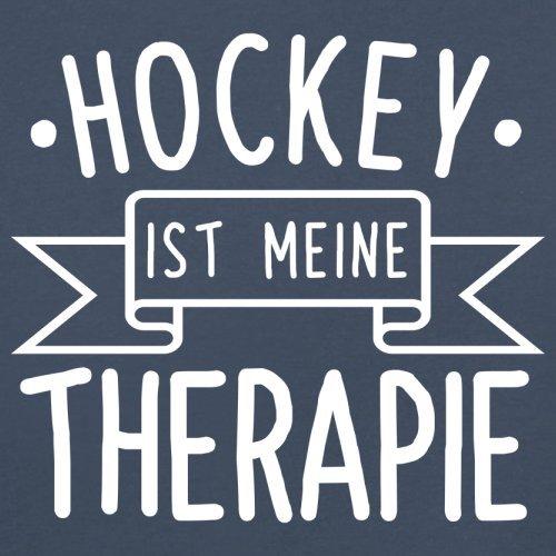 Hockey ist meine Therapie - Herren T-Shirt - 13 Farben Navy