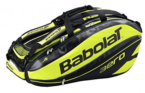 Babolat Turniertasche Pure Aero Racket Holder X12, Schwarz, 75 x 46 x 33 cm, 70 Liter, 751114-142