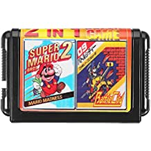 Rishil World 16bit 2 In 1 Super Game Cartridge For Sega Game Console