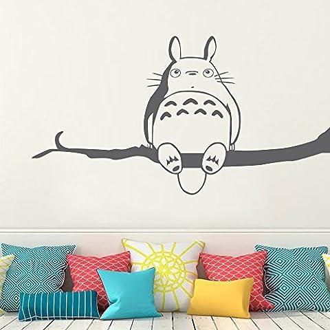 Adesivo da parete Decor My Neighbor Totoro da parete in vinile Wall Art Kids Room parete D ¨ ¦ cor (marrone scuro, 22