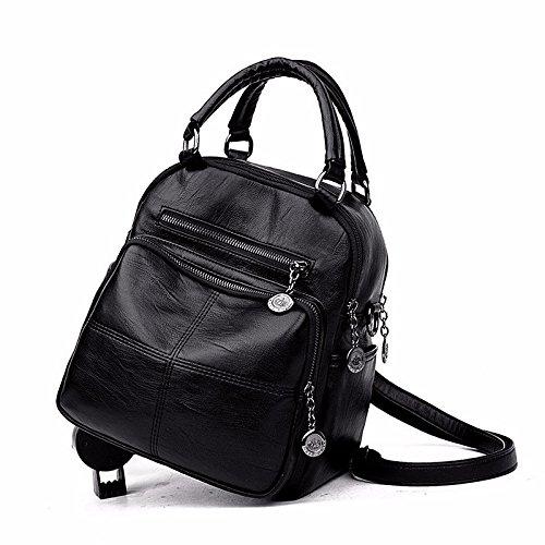 multifunktionale rucksack freizeit weichen tragbare schulter beutel,schwarz schwarz