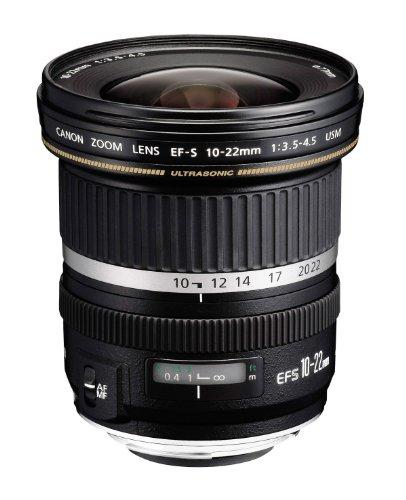 Canon EF-S 10-22MM F/3.5-4.5 USM - Objetivo para Canon (distancia focal 10-22mm, apertura f/3.5) color negro