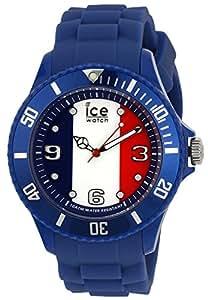 ICE-Watch - Montre Mixte - Quartz Analogique - Ice-World - France - Big - Cadran Multicolore - Bracelet Silicone Bleu - WO.FR.B.S.12
