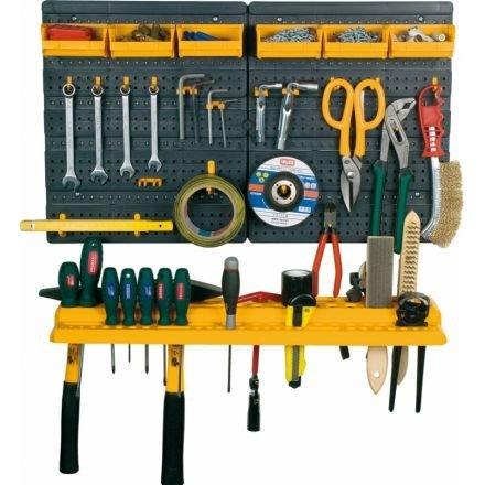 Werkzeugwand mit Haken, Konsole & Sichtboxen