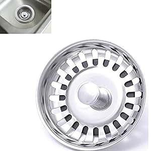 Efly Filtro per lavello, di alta qualità, in acciaio inox a doppio strato, per cucina o bagno