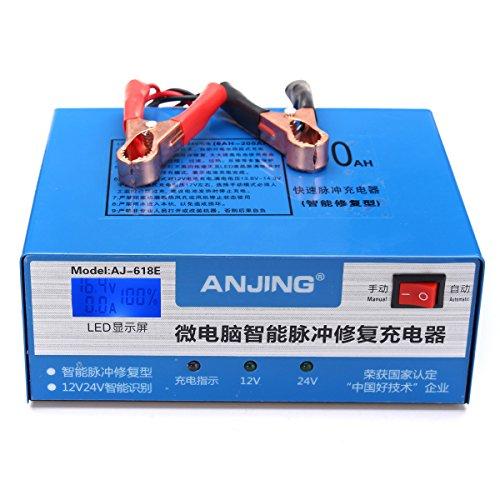 Preisvergleich Produktbild WCHAOEN Auto-Motorrad-Ladegerät-Impuls 12V 24V 200AH 220W für Bleisäure-Lithium-Batterie Ersatzteile