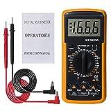 Danme DT9205A Multimetro Digitale LCD Portatile AC DC Range Automatico Amperometro Ohmmetro Capacitanza Resistenza Meter Giallo