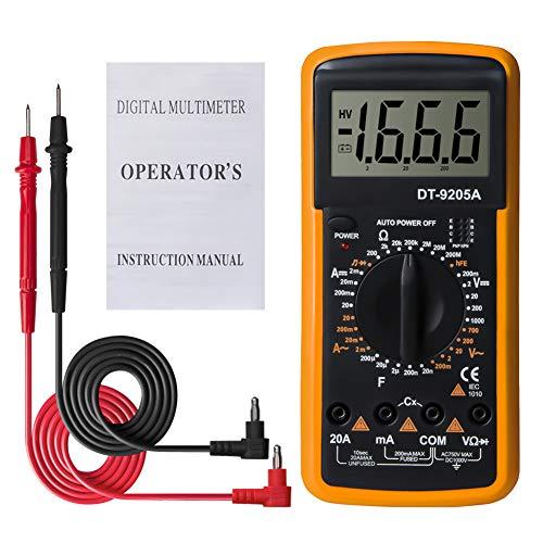 NW Wn DT9205A Digitales Multimeter LCD Handheld AC DC Automatik Range Multimeter Amperemeter Ohmmeter Kapazität Widerstand Meter gelb