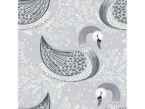 Oedim Fototapete Wand graue Schwan | Verschiedene Maße 100x70 cm | Dekor Esszimmer, Wohnzimmer, Zimmer