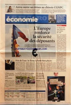 FIGARO ECONOMIE (LE) [No 19965] du 08/10/2008