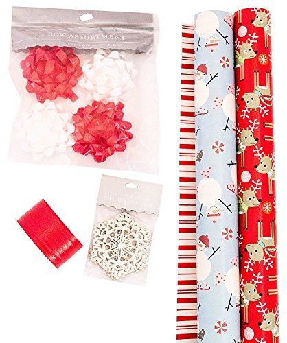 The Gift Wrap Company Geschenkpapier-Set Hanukka, mit Schleifen und Anhänger WHIMSICAL WONDER