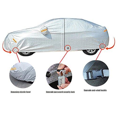 FREESOO Bâche Auto Housse de Protection avec Zipper en Feuille...