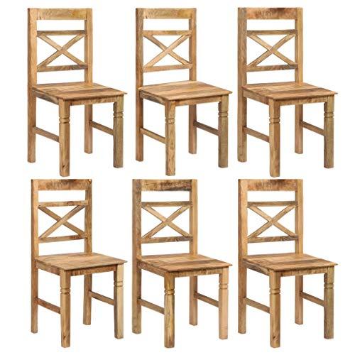 Festnight- Esszimmerstühle 4er Set Küchenstuhl Stühle Wohnzimmerstuhl Holzstuhl Massives Mangoholz