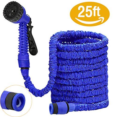 DAMIGRAM Flexibler Gartenschlauch, 25FT FlexiSchlauch Wasserschlauch Schlauch Flexi Dehnbarer Wasserschlauch Flexi Wonder Gartenteich Schlauch Bewässungs (Blue)